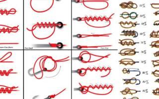 Рыболовные узлы для крючков и поводков фото