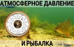 Оптимальное давление для рыбалки