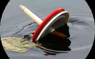 Ловля на кружки на течении