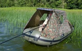 Установка тента на лодку пвх